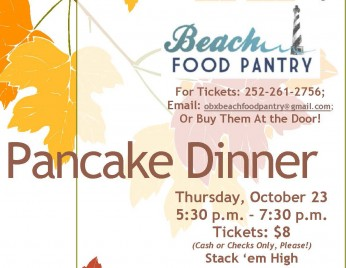 Pancake Dinner Set For Thursday, October 23.