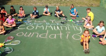 Outer Banks Tennis Association gets support from the Outer Banks Community Foundation to positively influence youth.