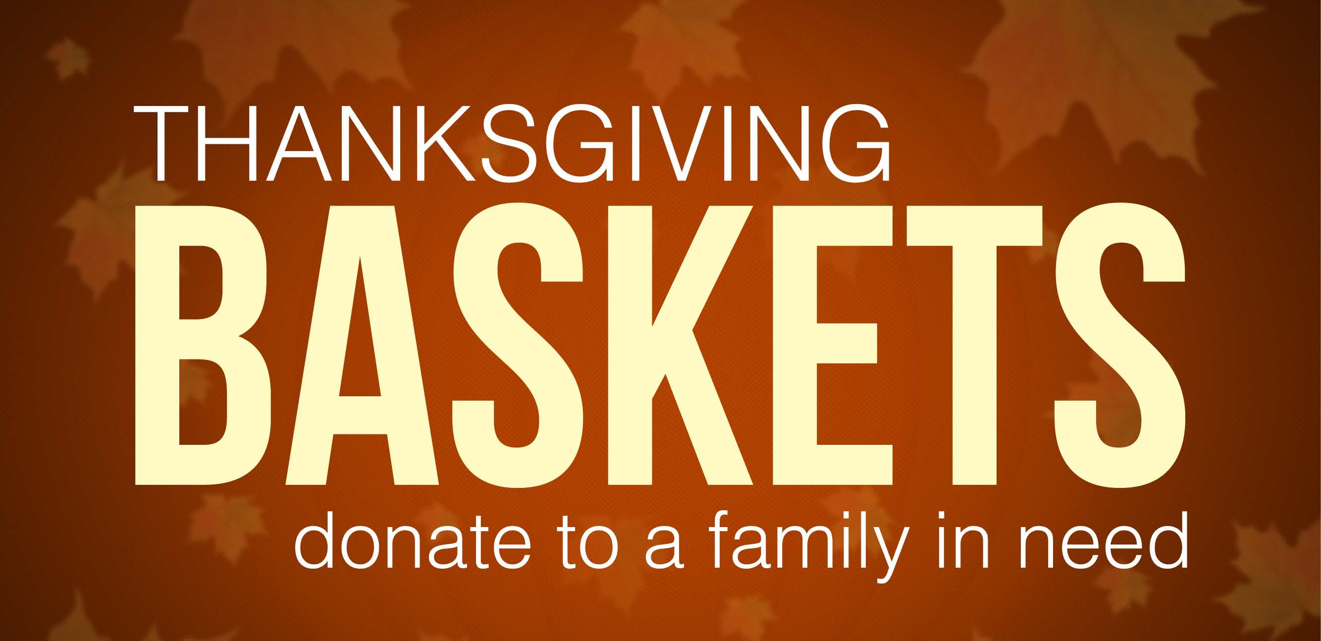 Thanksgiving Basket Partnership Program Seeks Sponsors & Applicants
