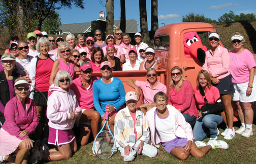 Fourth Get Pinked! Tennis Tournament, Area Cancer Program October 16