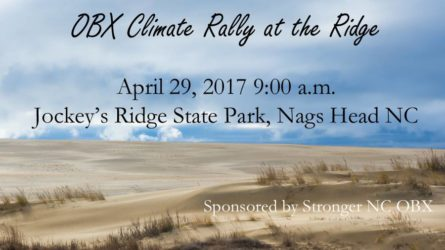 OBX Climate Rally at the Ridge set for Saturday, April 29