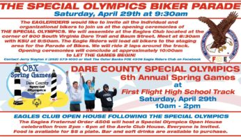 Group Ride to Dare County Special Olympics Parade April 29
