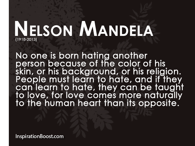 Nelson Mandela Hate And Love Quotes Outer Banks Commongood