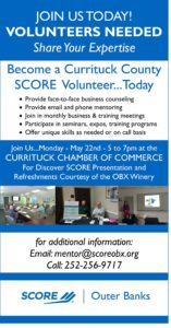 SCORE is in need of mentors Currituck May 22