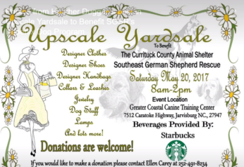 Upscale Yardsale to Benefit SGSR's Phoenix Dog Program May 20