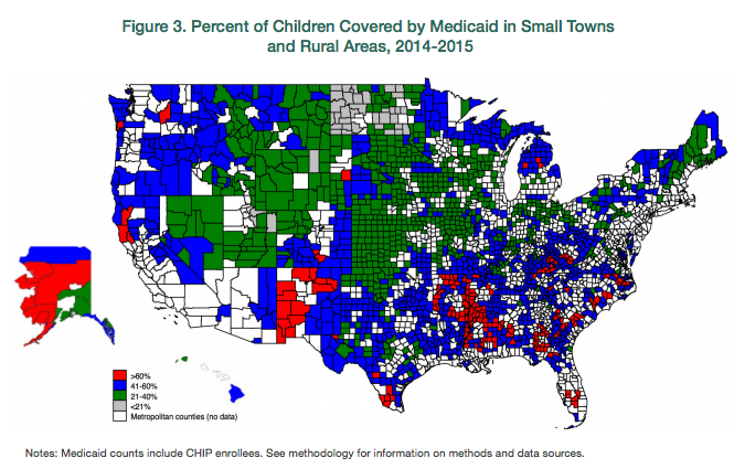 Interactive Map The Percent Of Children In Small Towns And Rural - Interactive map for children