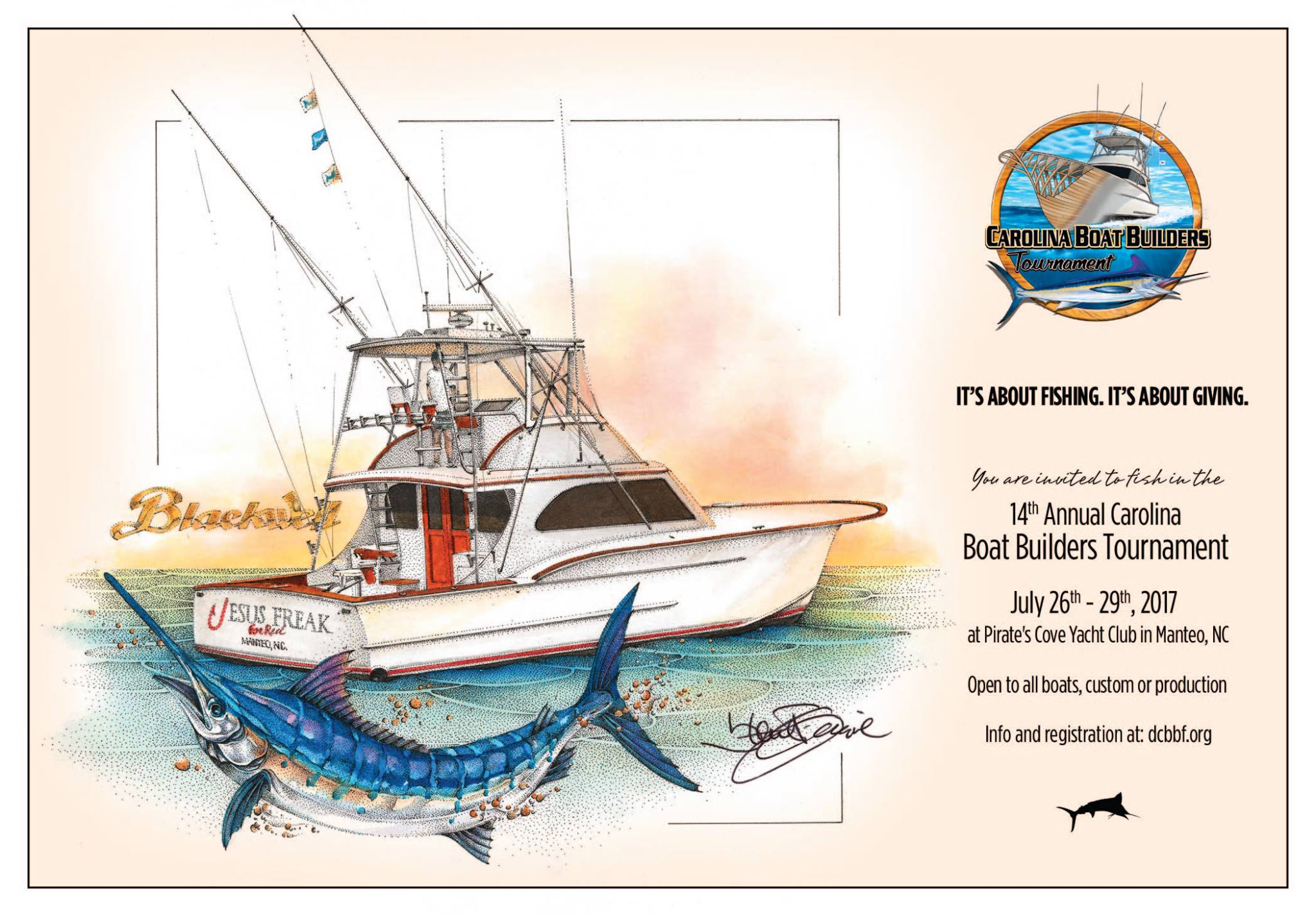 14th Annual Carolina Boat Builders Tournament July 26 – 29