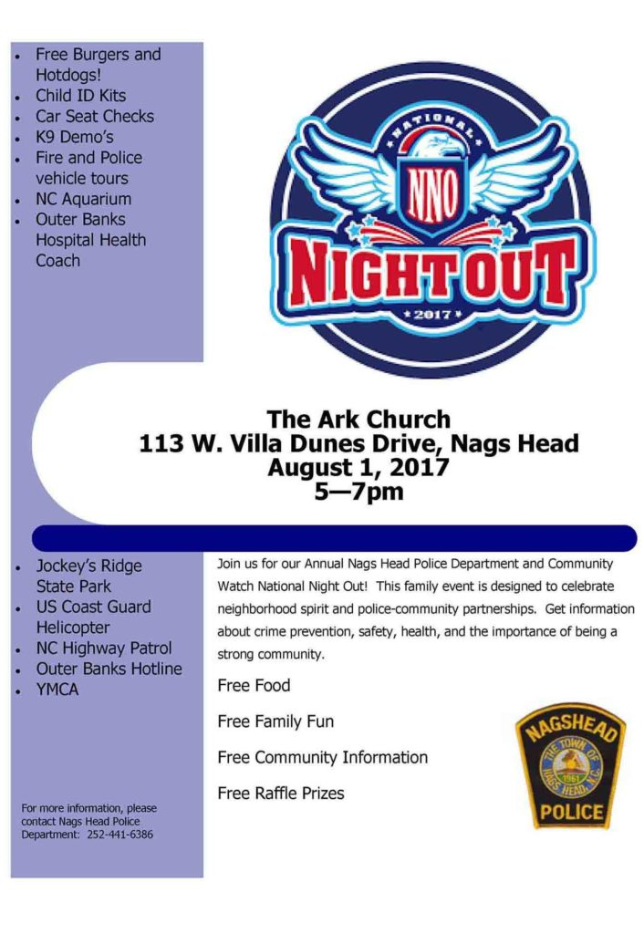 National Night Out! August 1