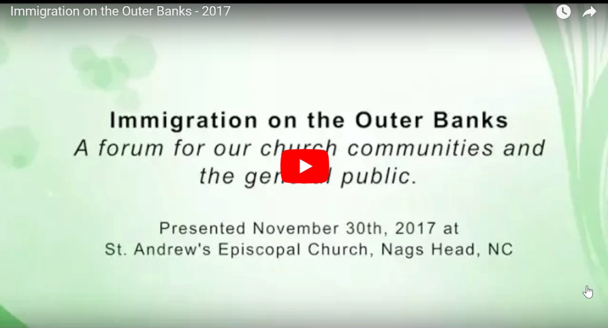 Video on Immigration in the Outer Banks