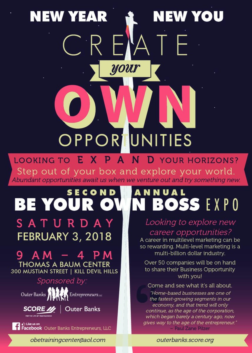 Second Annual Be Your Own Boss Business Expo